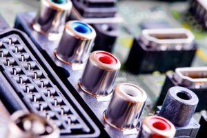 Plugs on audiovisual equipment